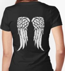 Daryl Dixon Wings - Zombie Women's Fitted V-Neck T-Shirt