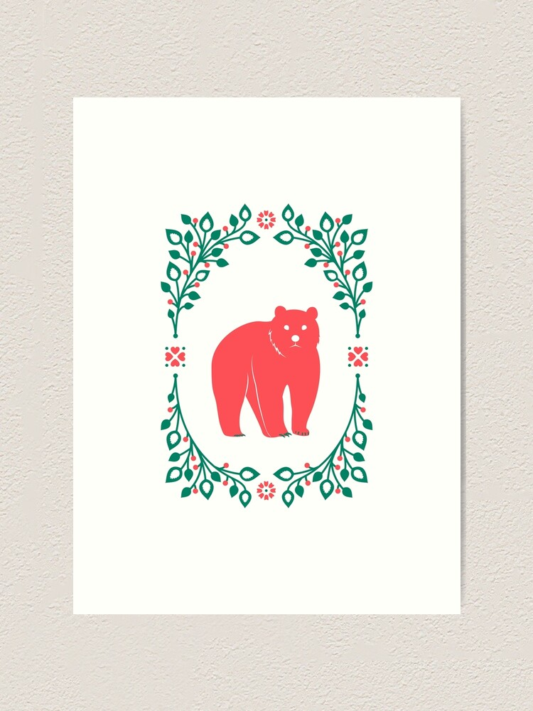 Alternate view of Folk Forest Bear Art Print