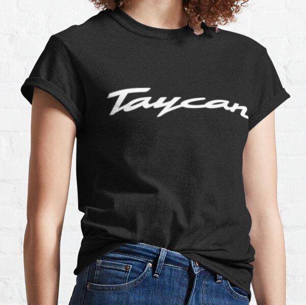 Porsche Taycan Logo White/Black Background Classic T-Shirt