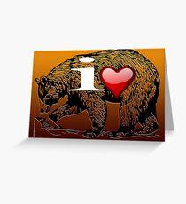 I LOVE BEAR Greeting Card