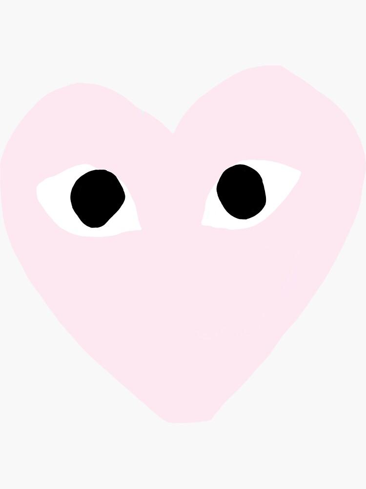 Pink CDG Heart de sloanegriffiths