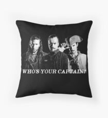 Who's Your Captain? Throw Pillow