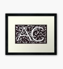 William Morris Inspired AC Monogram Framed Print