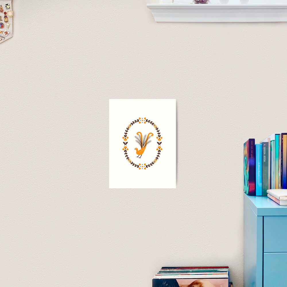 Folk Lyrebird Art Print