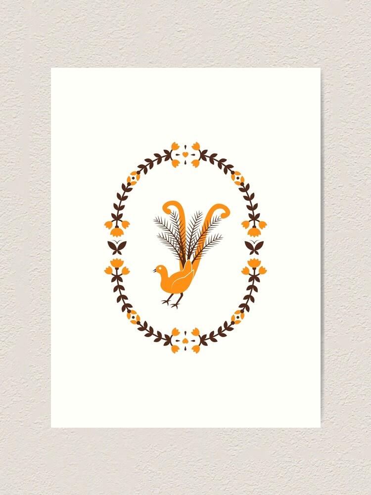Alternate view of Folk Lyrebird Art Print