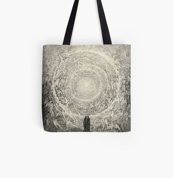 Paradise By Gustave Dore All Over Print Tote Bag