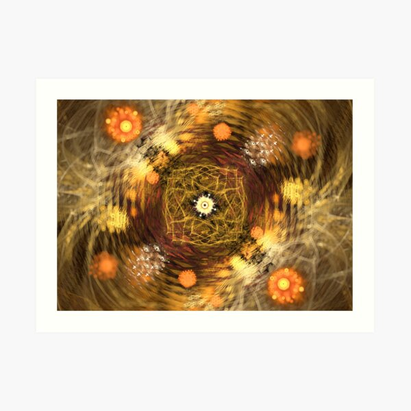 Trembling lights Art Print