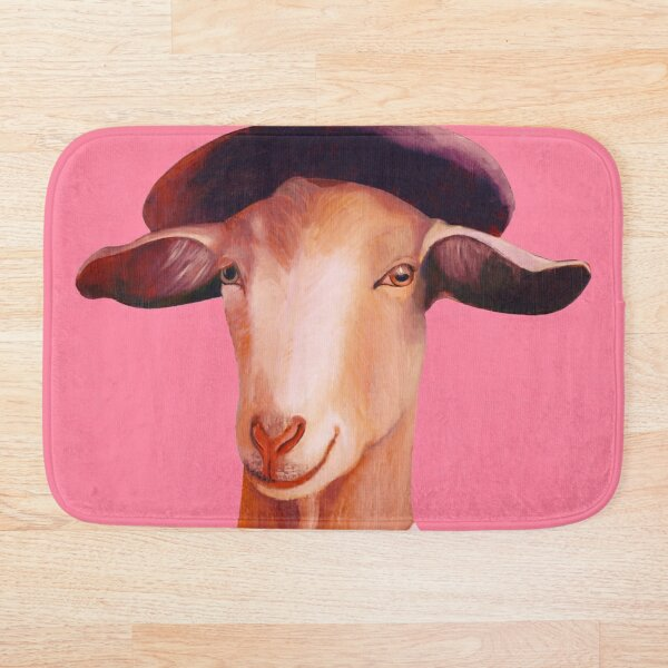 Billy Goat Pink Bath Mat