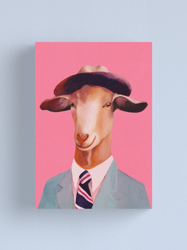 Billy Goat Pink Canvas Print By Animalcrew Redbubble