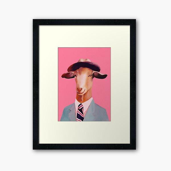 Billy Goat Pink Framed Art Print