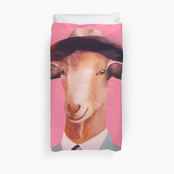 Billy Goat Pink Duvet Cover