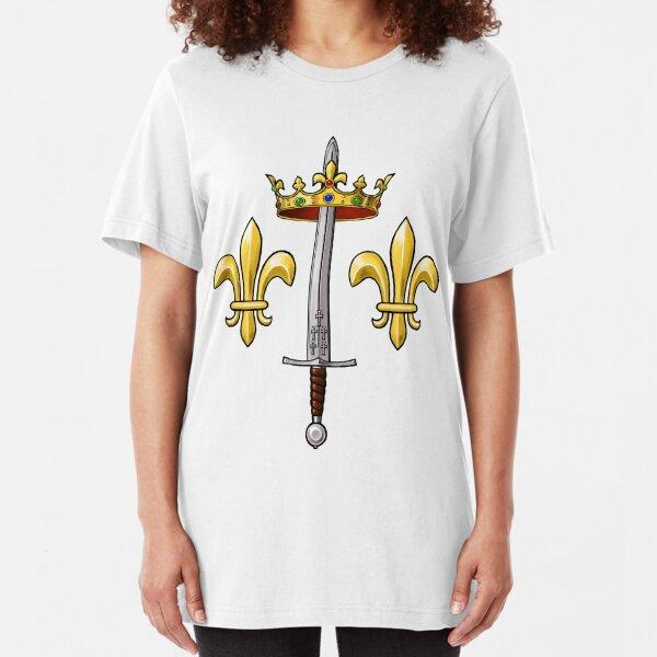 Joan of Arc heraldry Slim Fit T-Shirt
