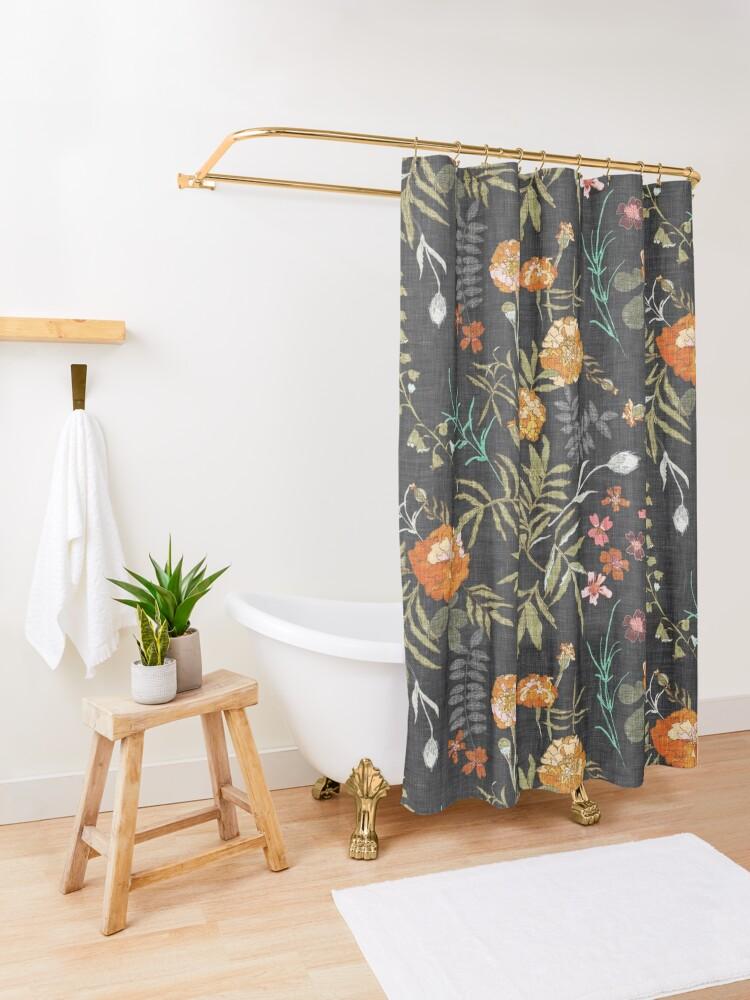 Alternate view of Marigold Love  Shower Curtain