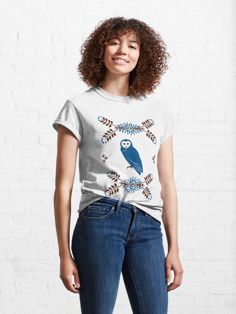 Alternate view of Folk Owl Classic T-Shirt
