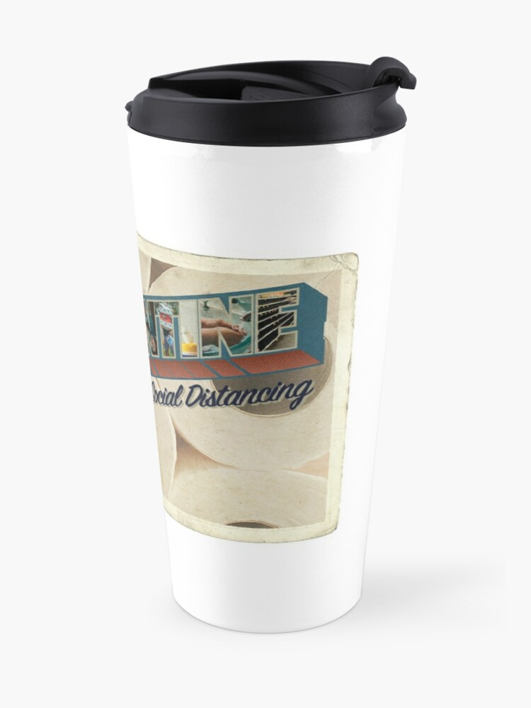 Alternate view of Quarantine Postcard Travel Mug