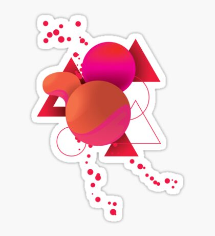 Melting Spheres Sticker