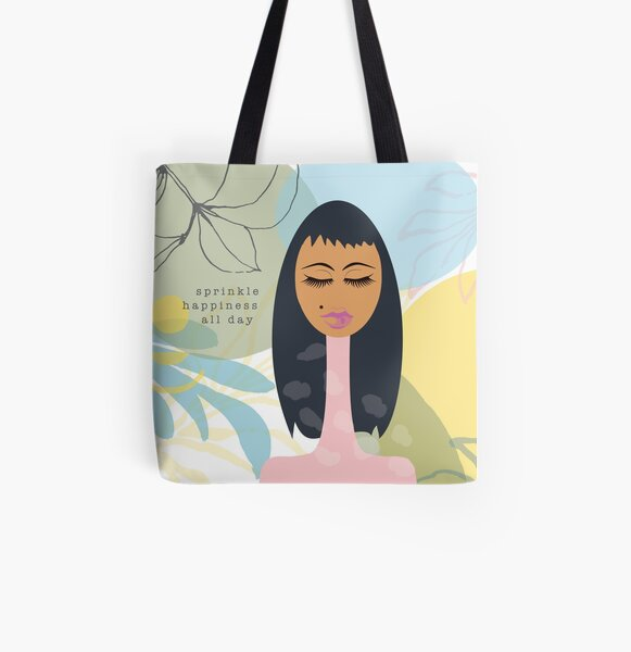 Sprinkle Happiness All Day All Over Print Tote Bag