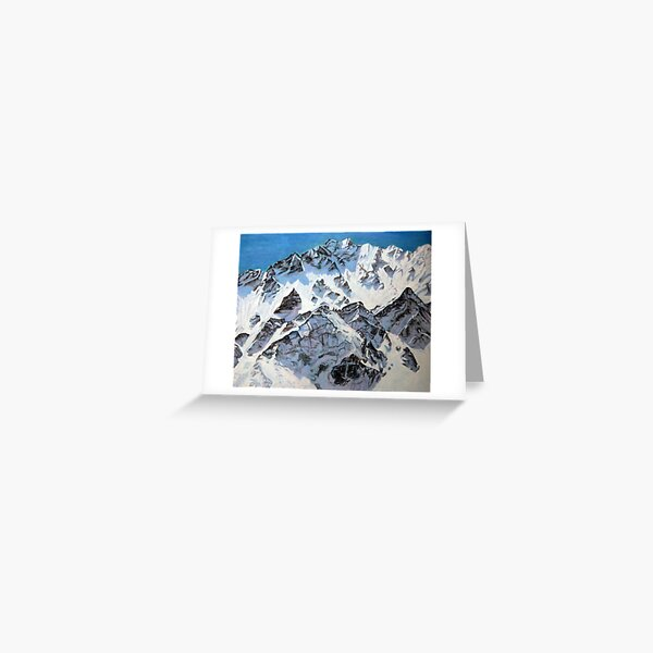mountains in Langtang range Nepal Greeting Card