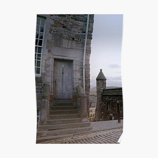 Royal Mile Doorway, Edinburgh, Scotland Poster