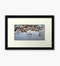 Misty Lake Bled Framed Print