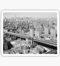 Pegatina Manhattan Black and White Photograph