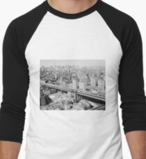 Camiseta ¾ bicolor para hombre Manhattan Black and White Photograph