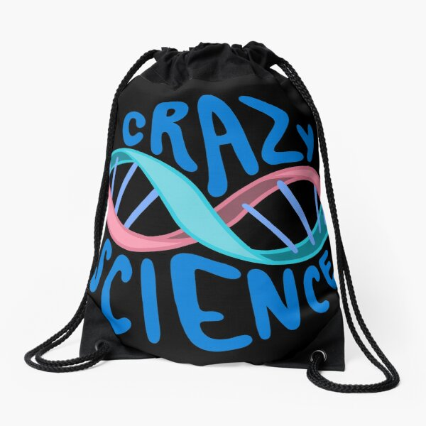 Cophine Crazy Science Typography Quote  Drawstring Bag