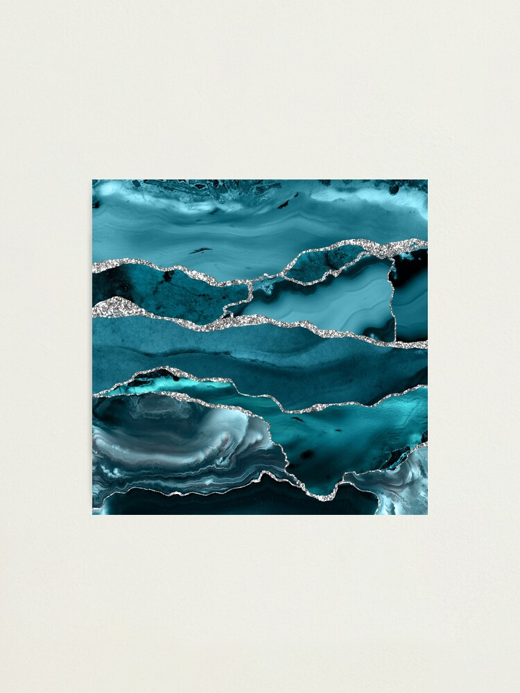 Alternate view of Trend Turquoise Marble Textures  Photographic Print