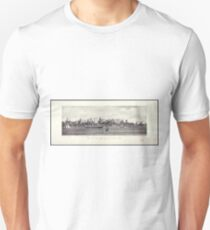 Camiseta ajustada View of New York City and The North River