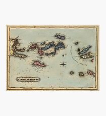 Vintage Map of The Virgin Islands (1823) Photographic Print