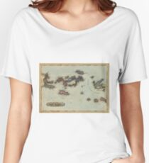 Vintage Map of The Virgin Islands (1823) Women's Relaxed Fit T-Shirt