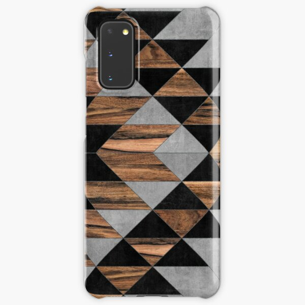 Urban Tribal Pattern No.10 - Aztec - Concrete and Wood Samsung Galaxy Snap Case
