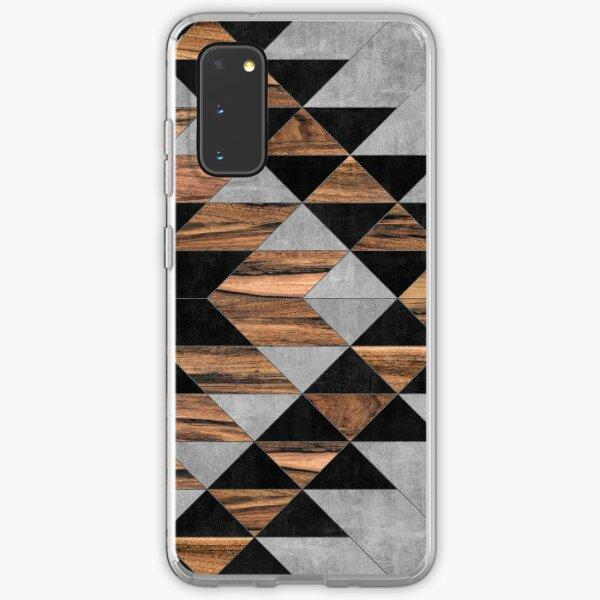 Urban Tribal Pattern No.10 - Aztec - Concrete and Wood Samsung Galaxy Soft Case