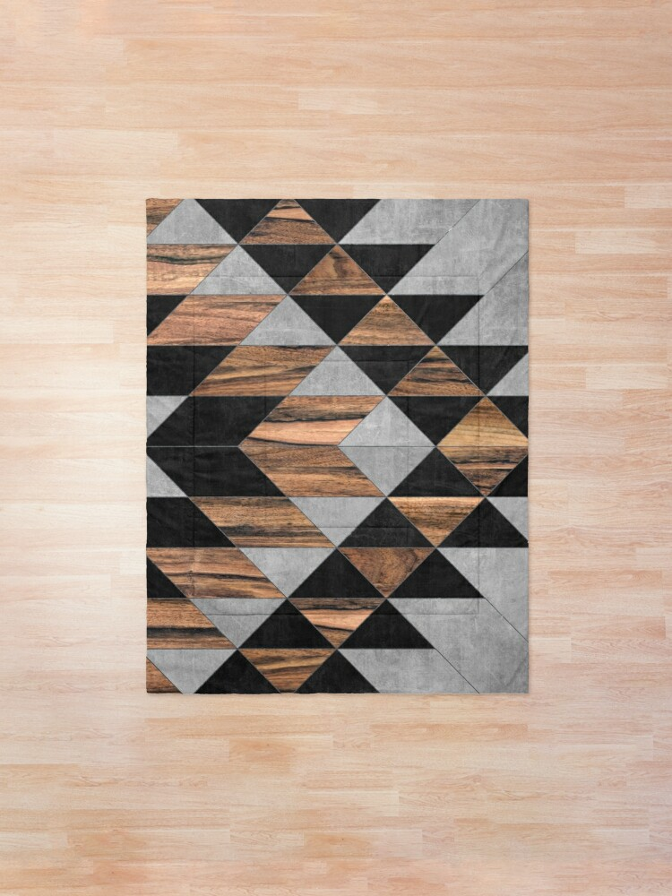 Alternate view of Urban Tribal Pattern No.10 - Aztec - Concrete and Wood Comforter