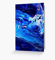 MEDITATION BLUE Greeting Card