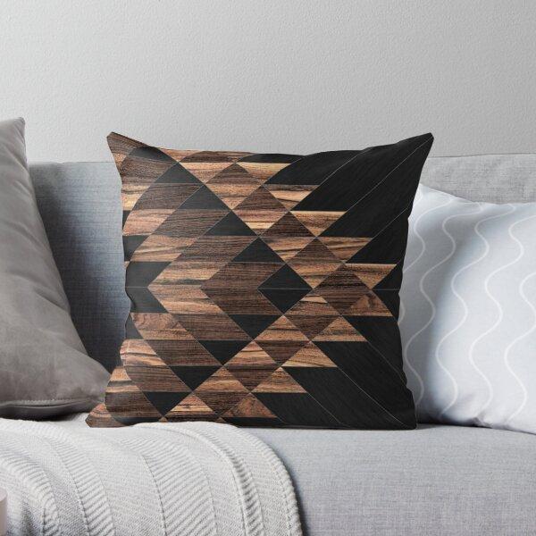 Urban Tribal Pattern No.11 - Aztec - Wood Throw Pillow
