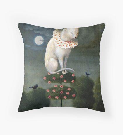 Harlekin Cat Throw Pillow