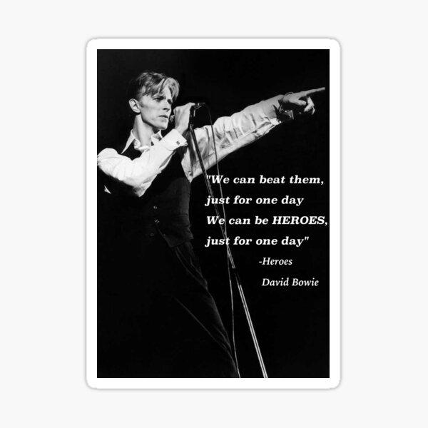 David Bowie Pegatina