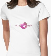 off peak traveler pink tee Womens Fitted T-Shirt
