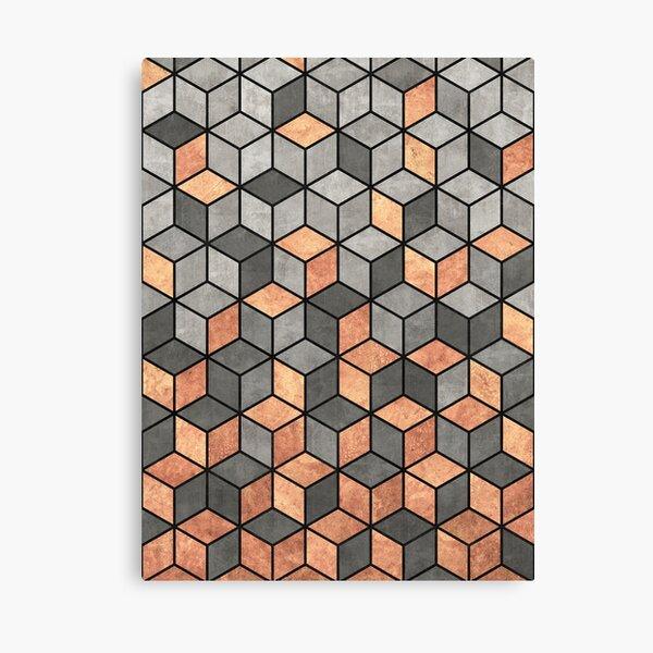 Concrete and Copper Cubes Canvas Print