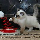 """""""Cats do not have to be shown..."""" by Marjorie Wallace"""