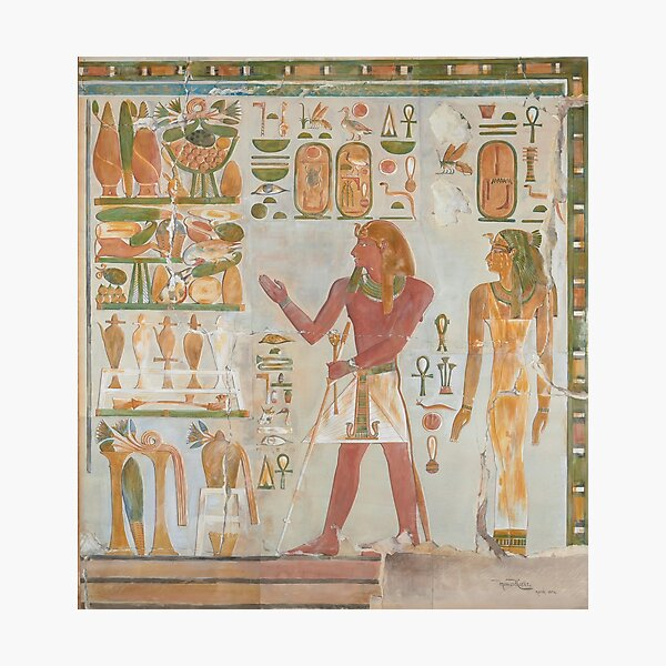 Thutmose I and Queen Senseneb by Howard Carter Photographic Print