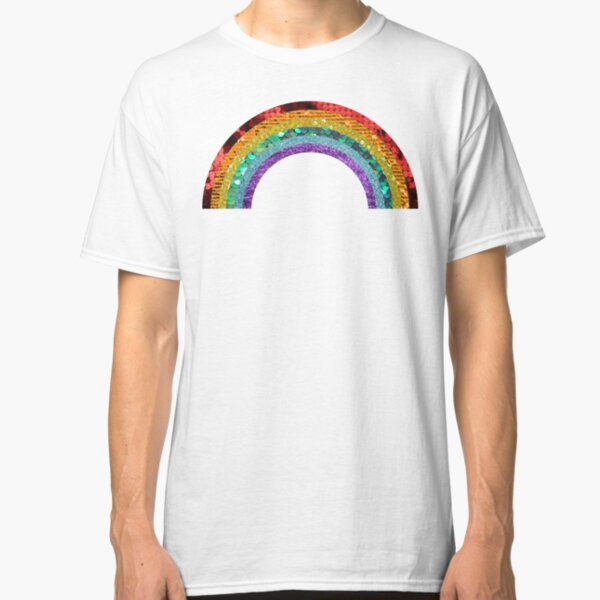 Rainbow Sequin Classic T-Shirt