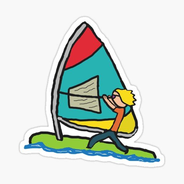 Windsurfing Sticker