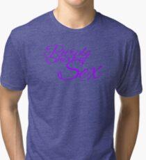 The Purple Shirt of Sex Tri-blend T-Shirt