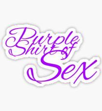 The Purple Shirt of Sex Sticker