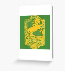 Prancing Pony Greeting Card