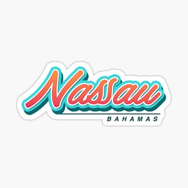 Nassau Bahamas Typography Sticker