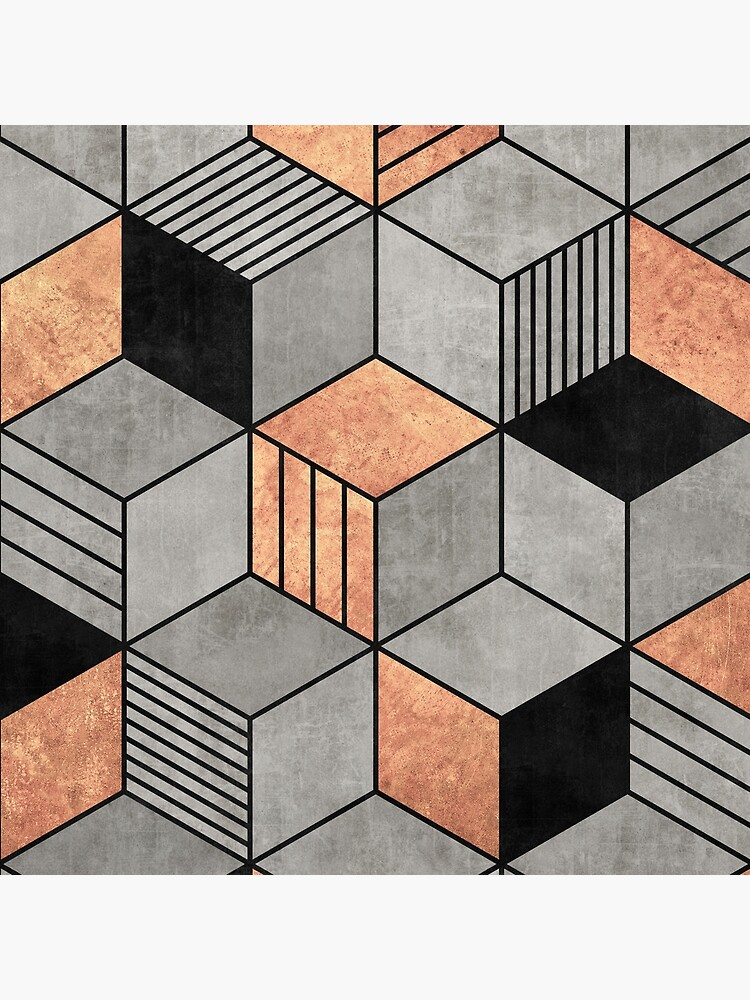 Concrete and Copper Cubes 2 by ZoltanRatko