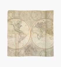 Vintage Map of The World (1799) 2 Scarf